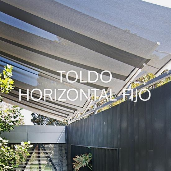 Toldo horizontal fijo narvik design for Toldo horizontal terraza